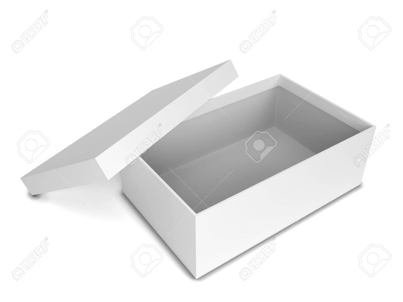 boîte à chaussures 3d illustration isolé sur blanc fond banque d