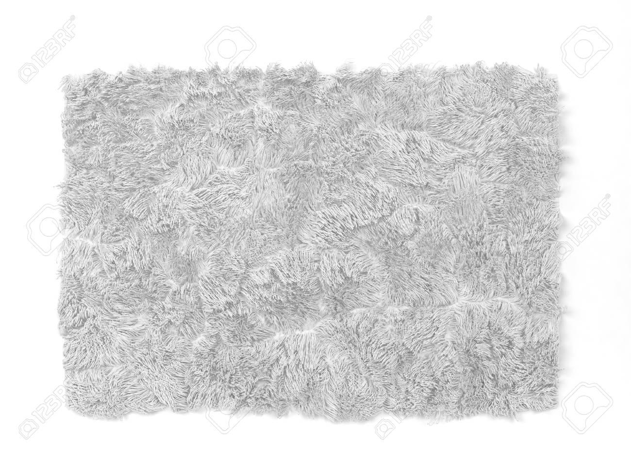 Alfombra Esponjosa Ilustración 3D Aislada En El Fondo Blanco