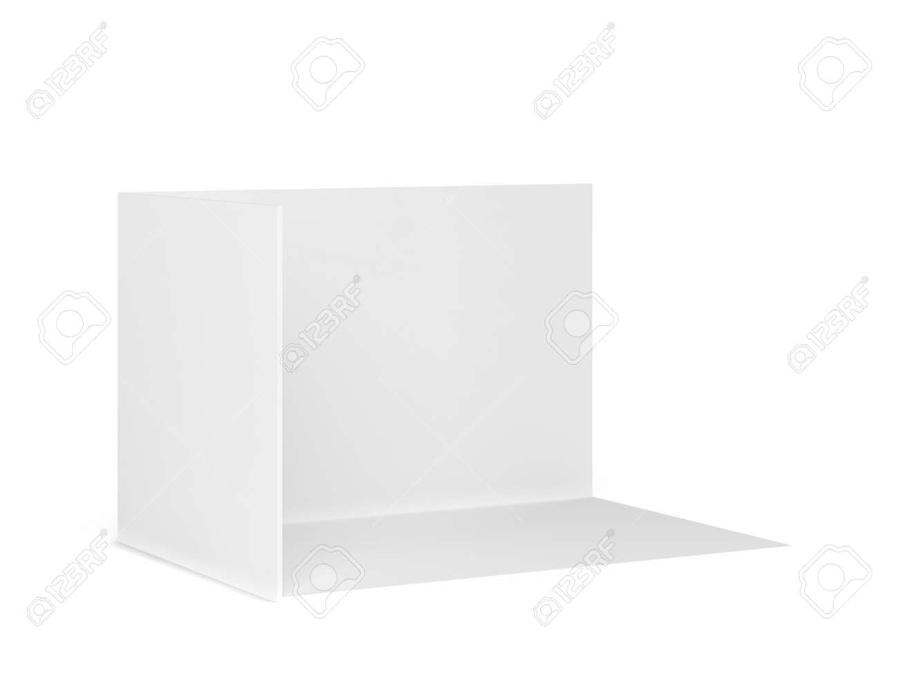 Simple tradeshow booth mockup. 3d illustration isolated on white background - 148671501