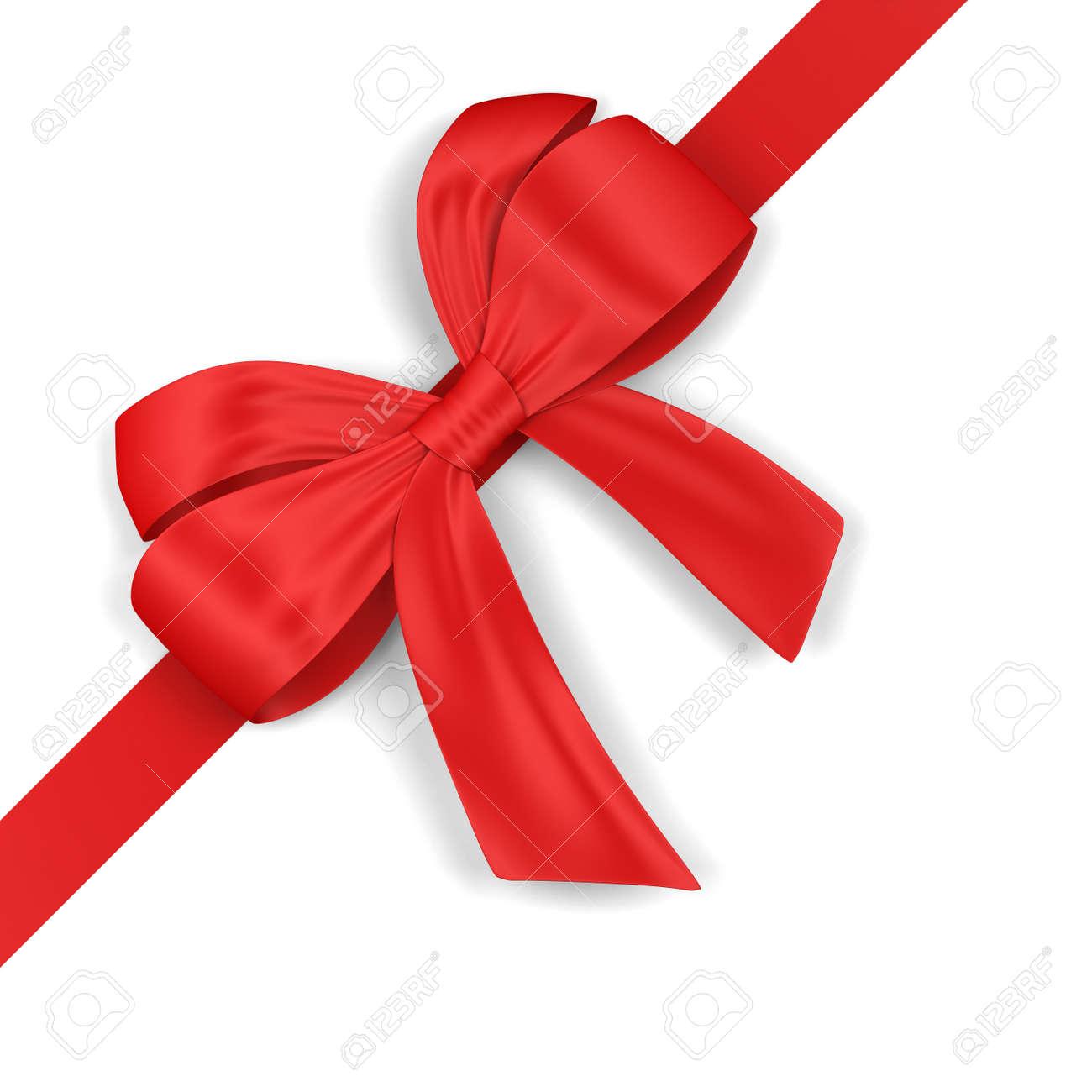 Elegant present bow. 3d illustration isolated on white background - 153701977