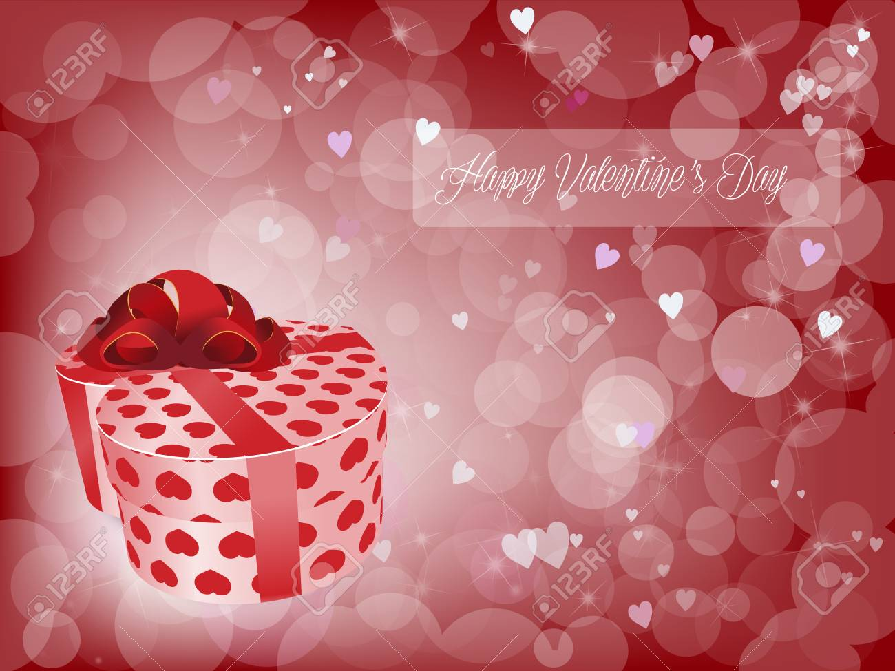 Lovely Gift For Valentines Day Stock Vector   68512761