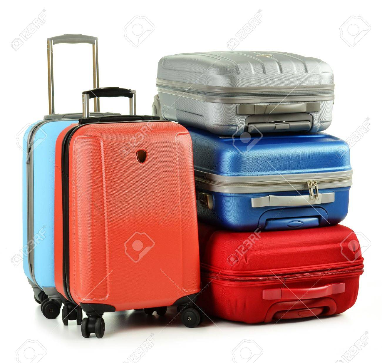 Luggage consisting of suitcases isolated on white Stock Photo - 10427562