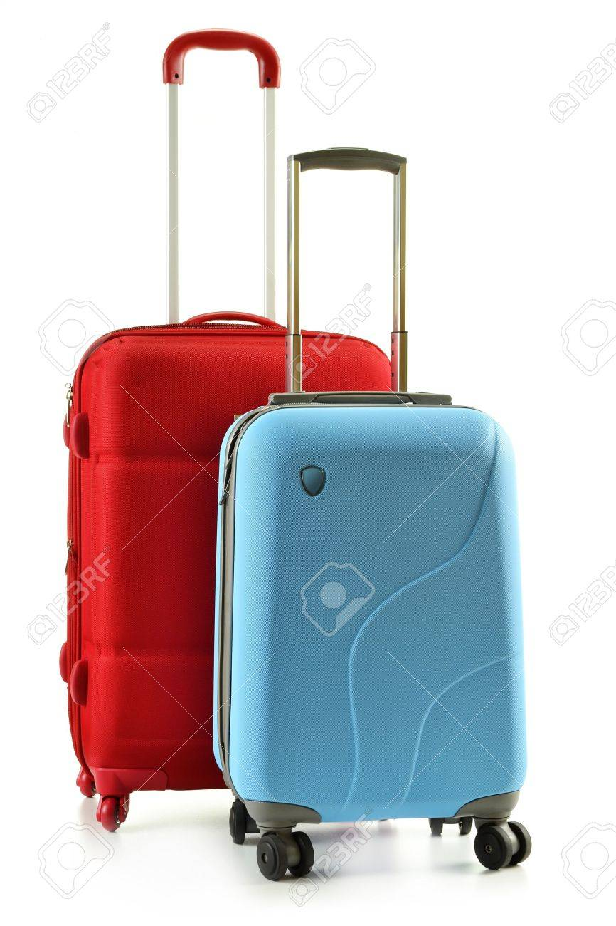 Luggage consisting of plycarbonate suitcases isolated on white Stock Photo - 10427563