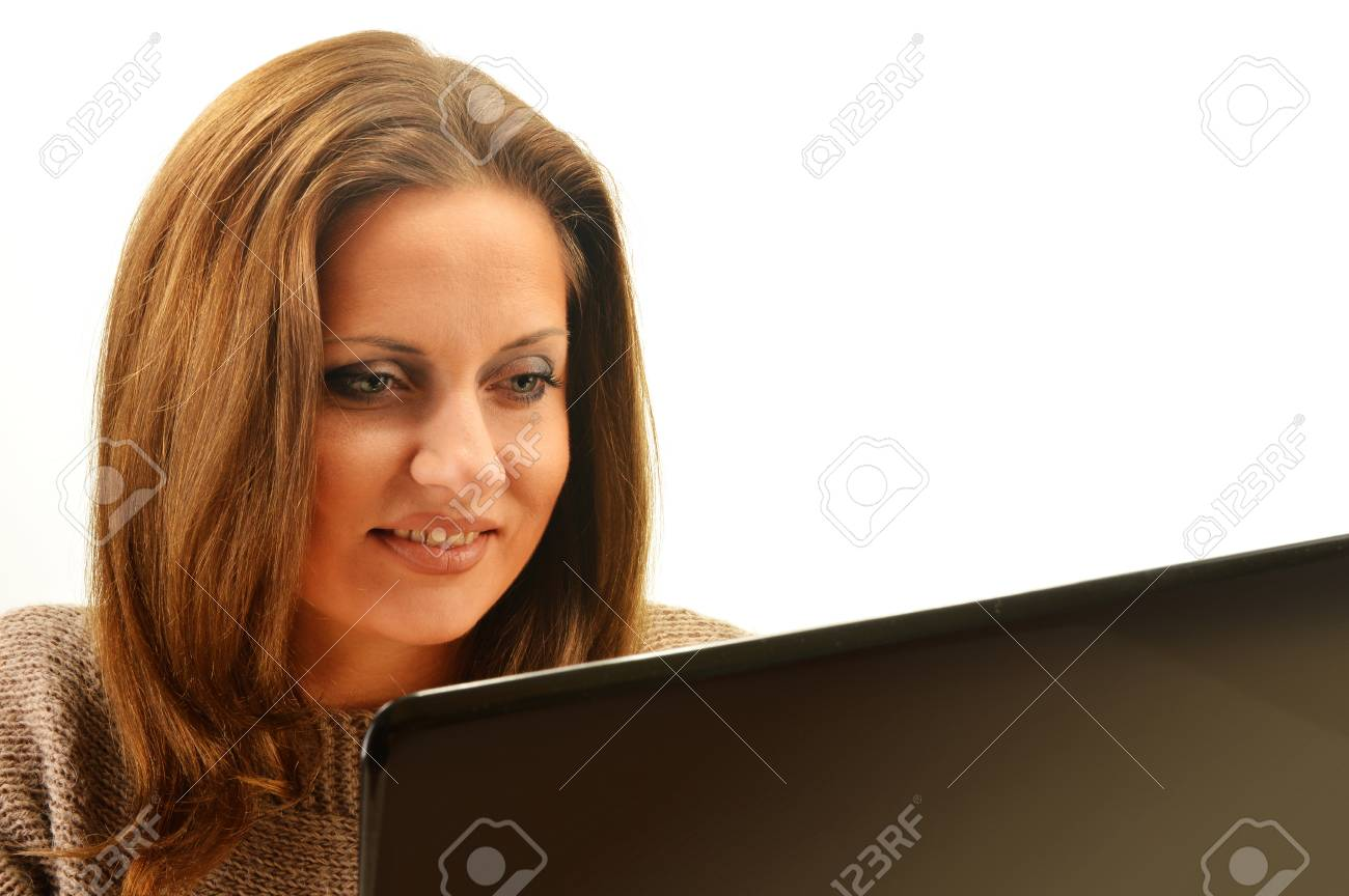 Young woman surfing on the Internet Stock Photo - 17162586