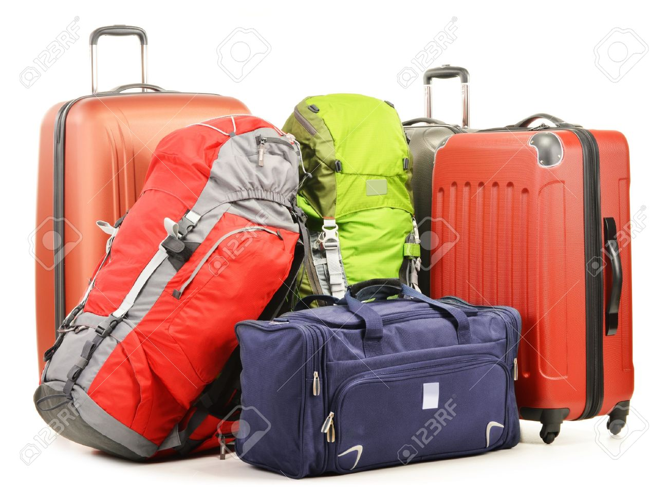 Luggage Consisting Of Large Suitcases Rucksacks And Travel Bag ...
