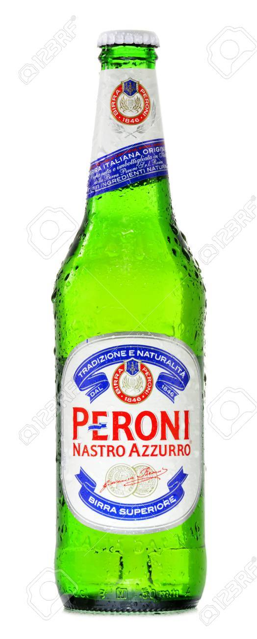 Nastro Azzurro Larger POSTCARD Peroni Brewery Alcohol Advertising Beer Bottle