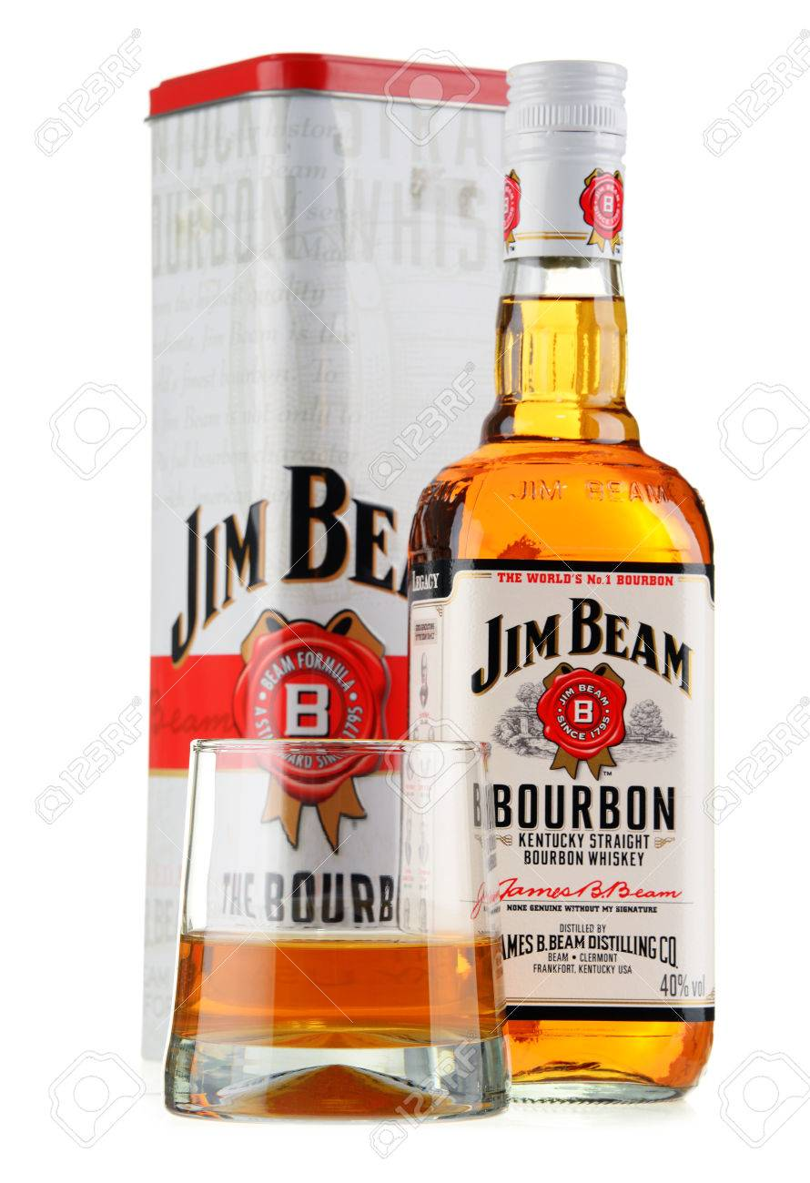 bottle of jim beam bourbon stock photo picture and royalty free