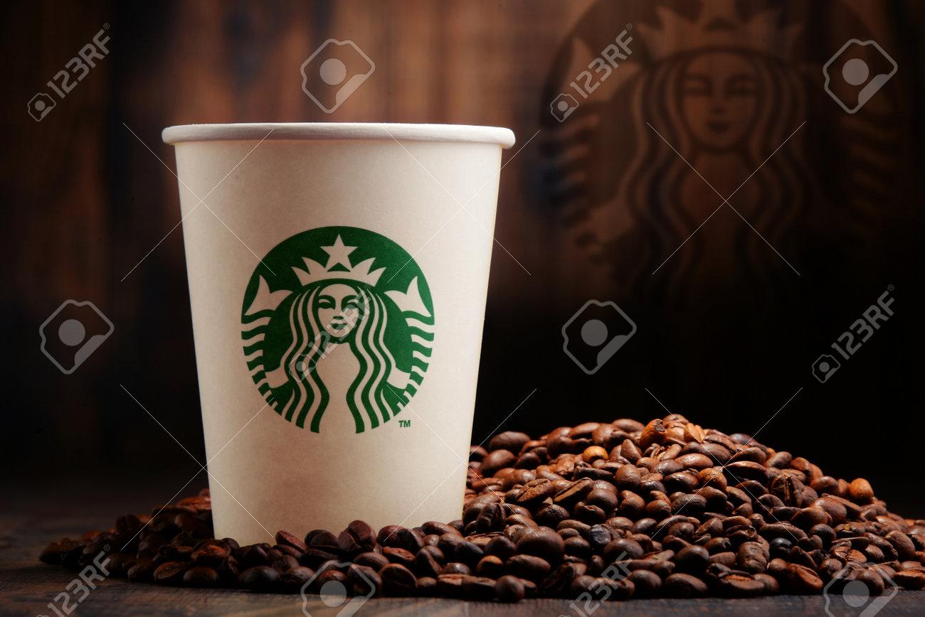 73f85b2501b POZNAN, POLAND - JANUARY 29, 2016: Starbucks, coffee company..