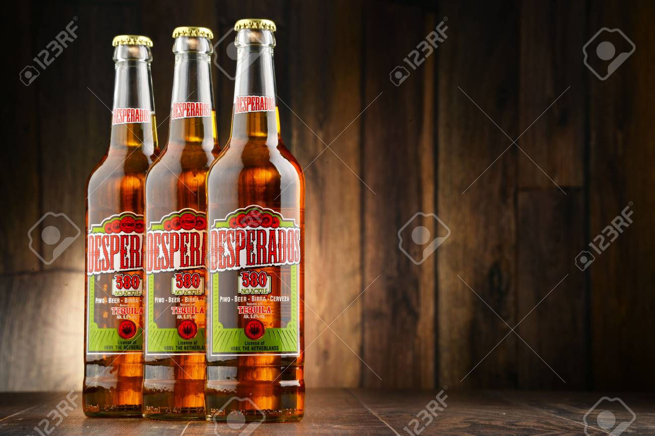 Poznan Poland July 14 2016 Desperados A Pale Lager Flavored Stock Photo Picture And Royalty Free Image Image 59579380