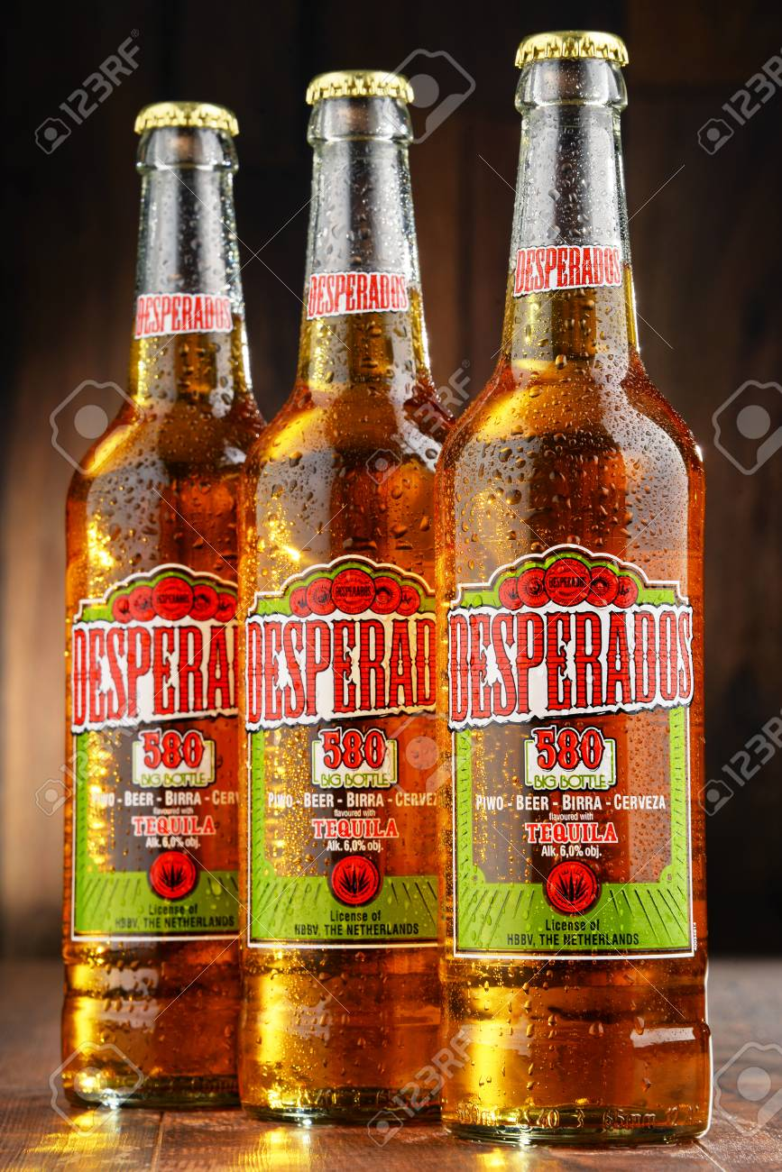 Poznan Poland July 14 2016 Desperados A Pale Lager Flavored Stock Photo Picture And Royalty Free Image Image 59579389