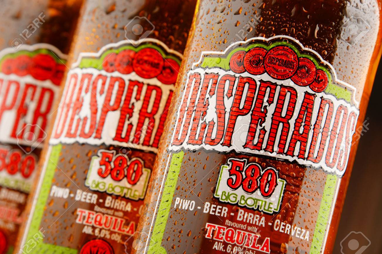 Poznan Poland July 14 2016 Desperados A Pale Lager Flavored Stock Photo Picture And Royalty Free Image Image 59579393