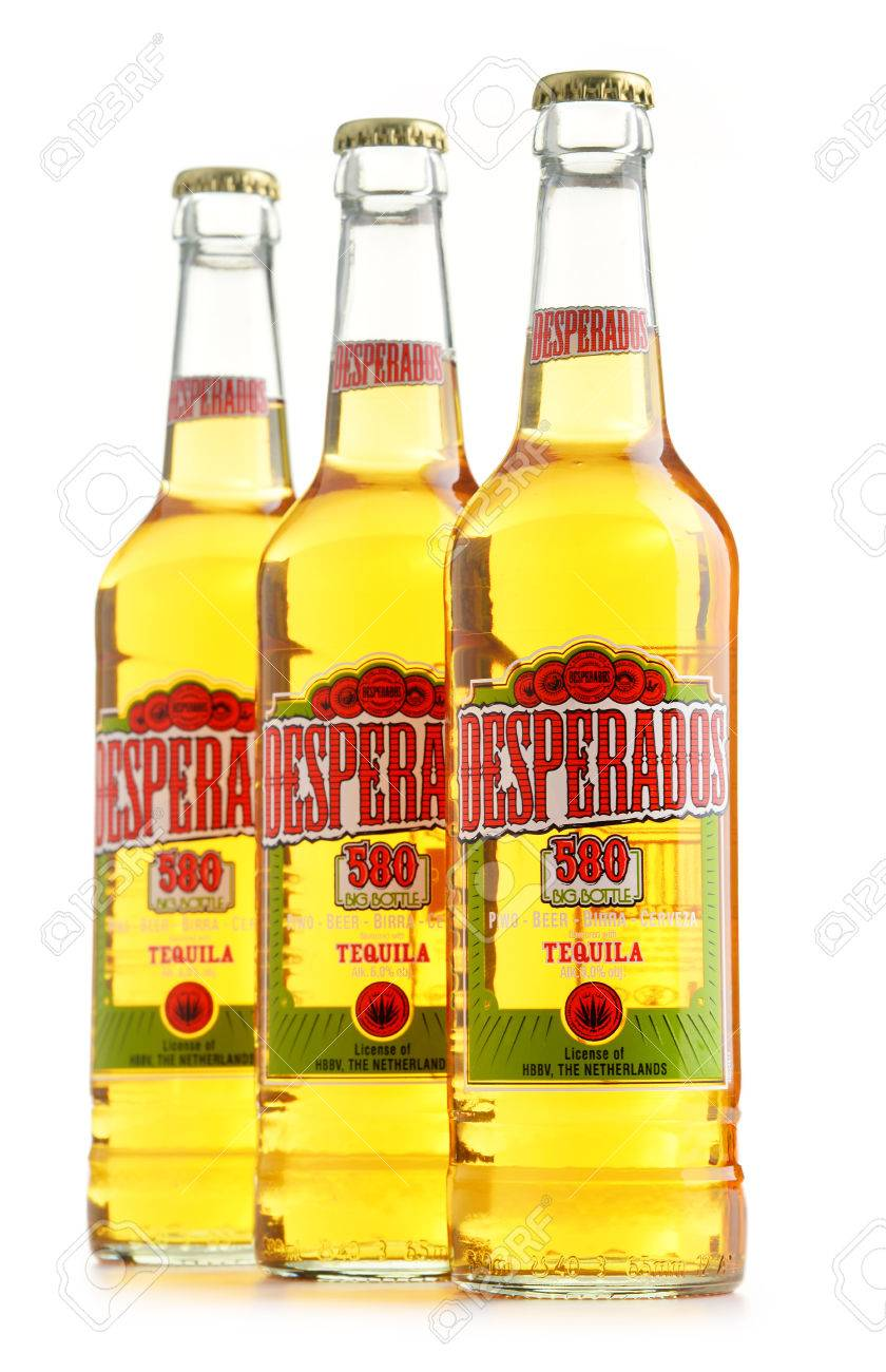 Poznan Poland July 14 2016 Desperados A Pale Lager Flavored Stock Photo Picture And Royalty Free Image Image 59579440