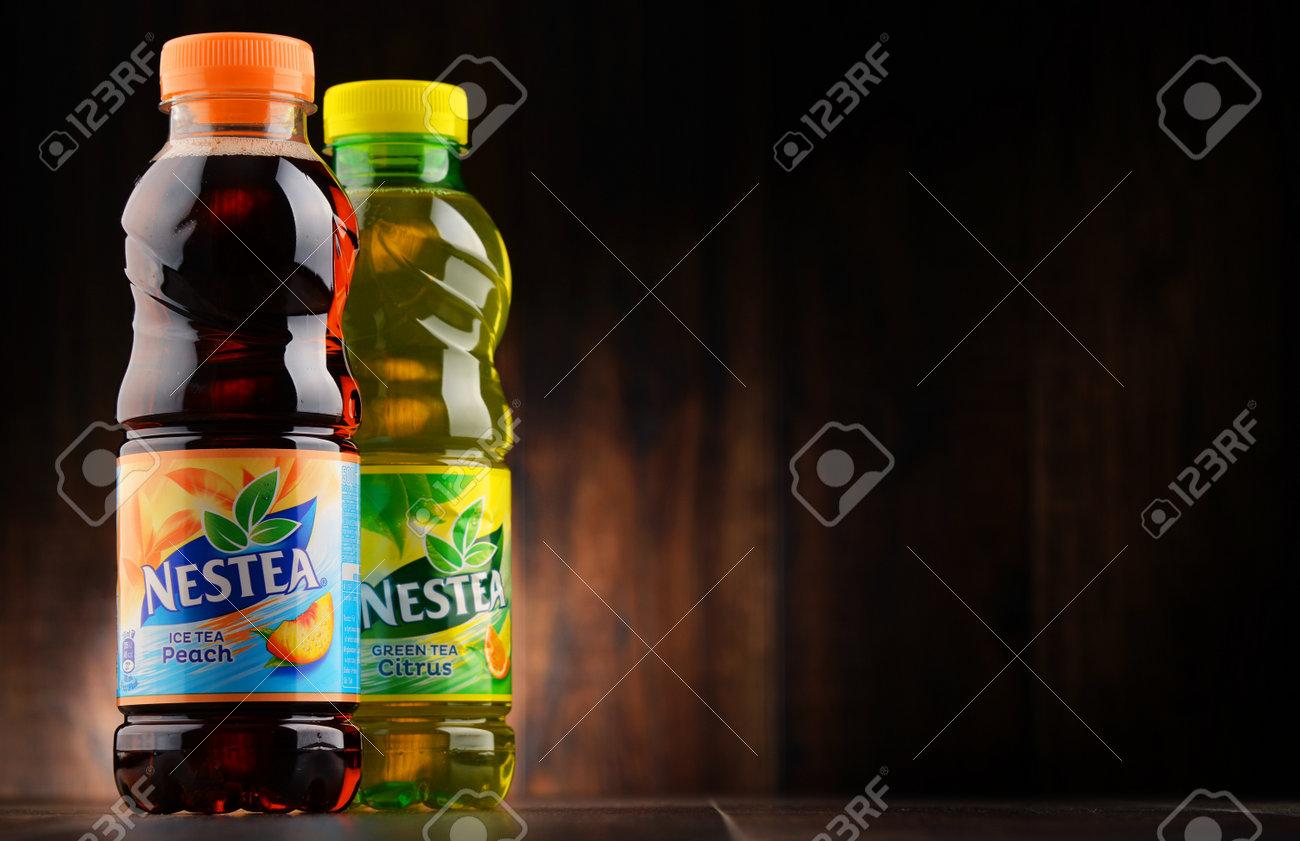 POZNAN, POLAND - JAN 18, 2017: Nestea Is A Brand Of Iced Tea ...