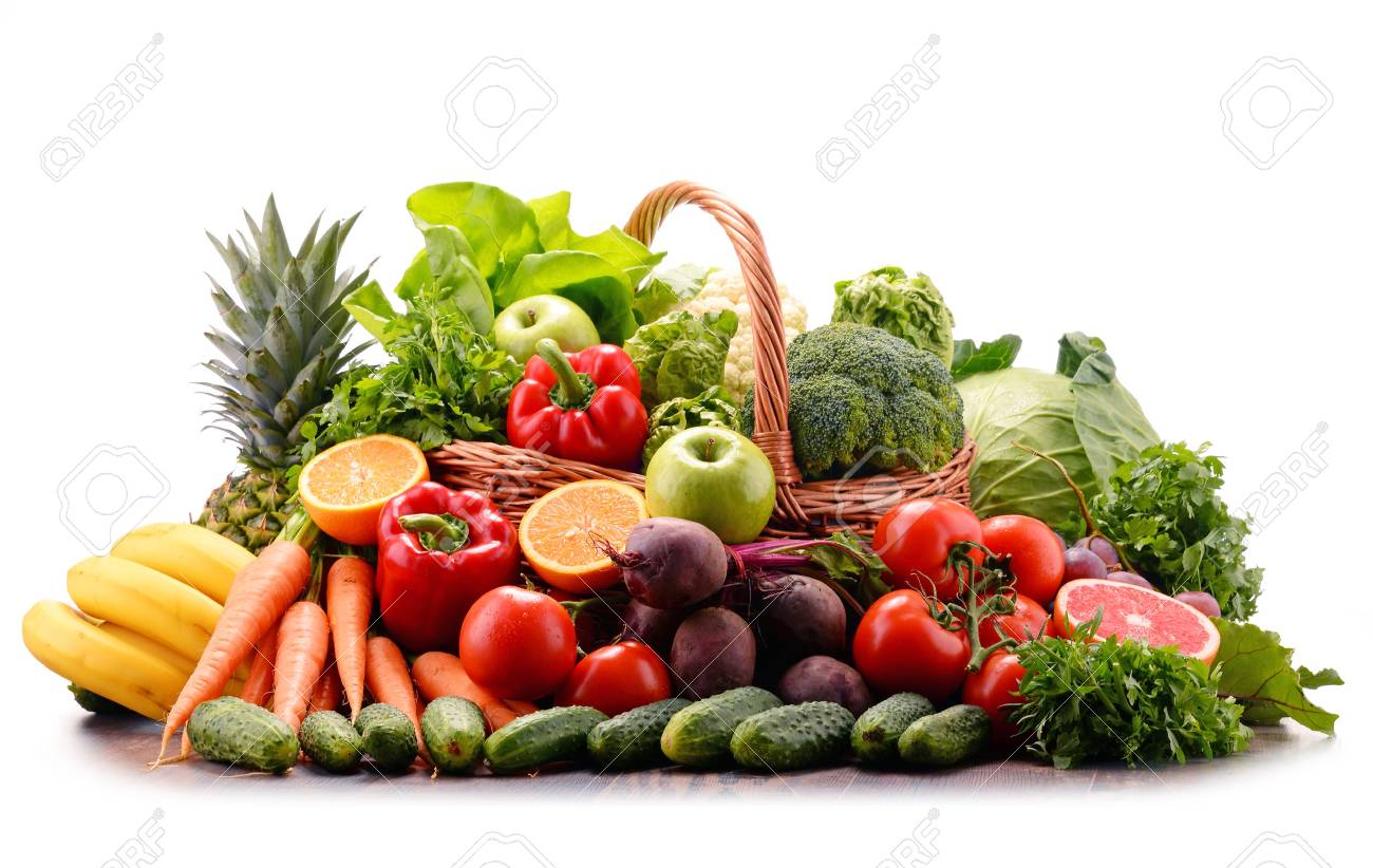 Composition with assorted raw organic vegetables. Detox diet - 70465341