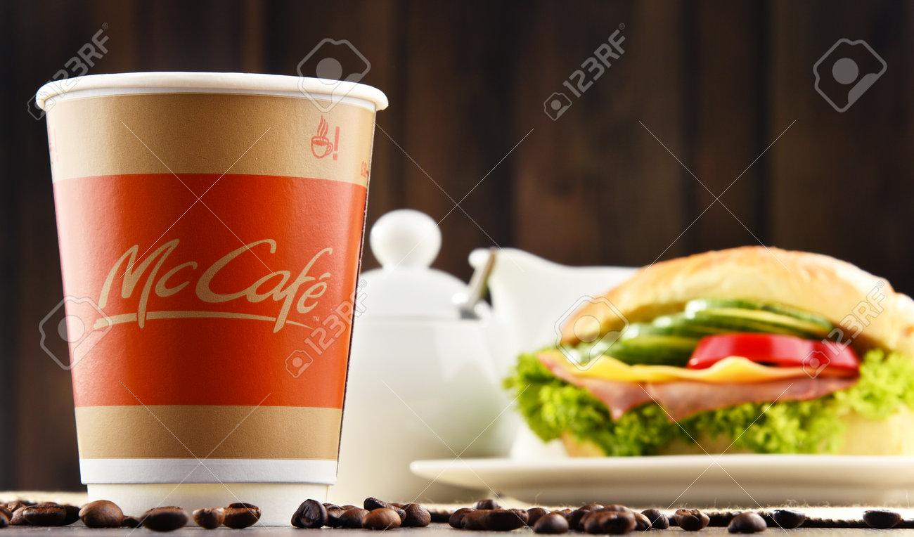POZNAN, POLEN - 24. MÄRZ 2017: McCafé Ist Eine Kaffee-Haus-ähnliche ...