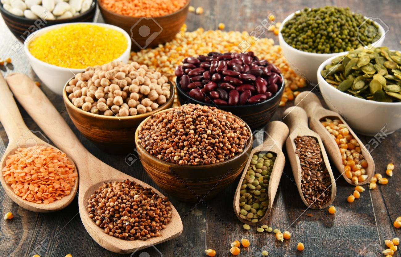Composition with variety of vegetarian food ingredients. - 80701011