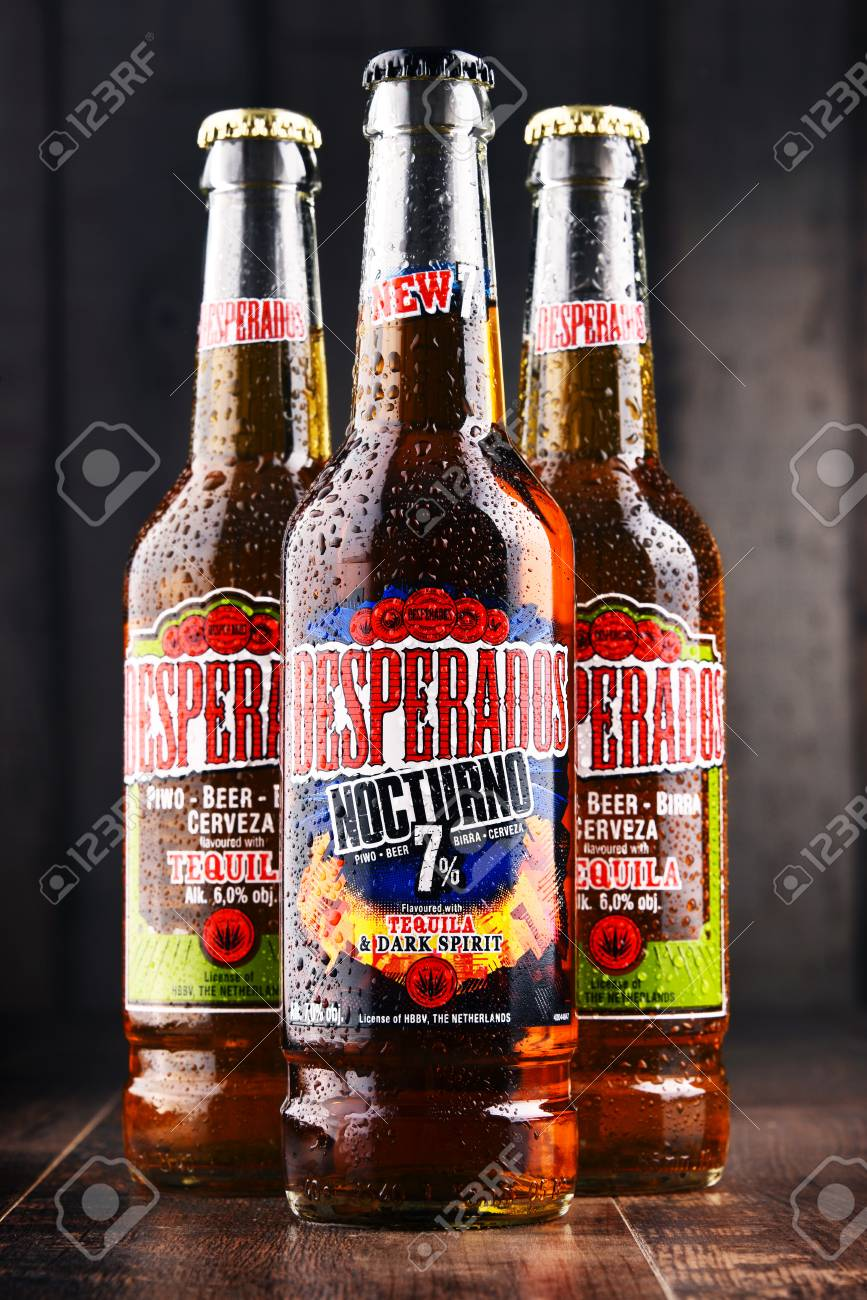 Poznan Poland Feb 14 2018 Desperados A Pale Lager Flavored Stock Photo Picture And Royalty Free Image Image 99102784
