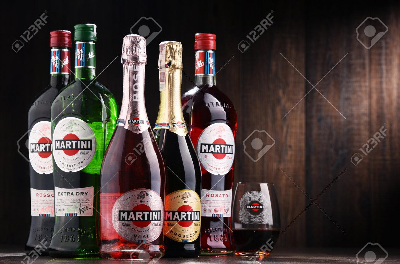 POZNAN, POLAND - DEC 7, 2017: Products of Martini, famous Italian