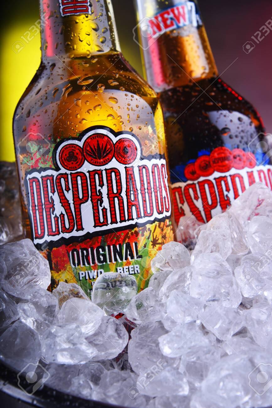 Poznan Pol Nov 8 2019 Bottles Of Desperados Pale Lager Flavored Stock Photo Picture And Royalty Free Image Image 134990918