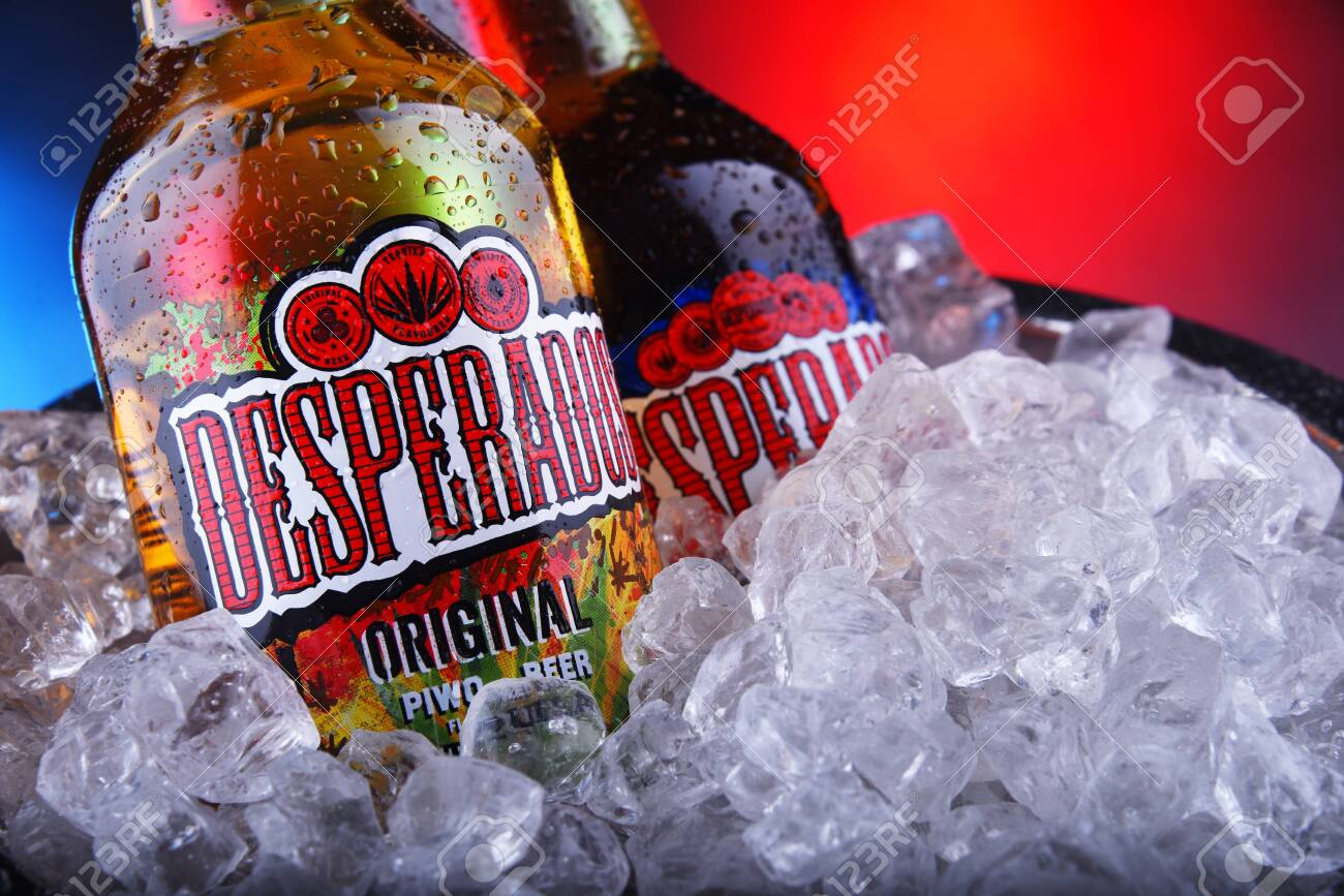 Poznan Pol Nov 8 2019 Bottles Of Desperados Pale Lager Flavored Stock Photo Picture And Royalty Free Image Image 134990943
