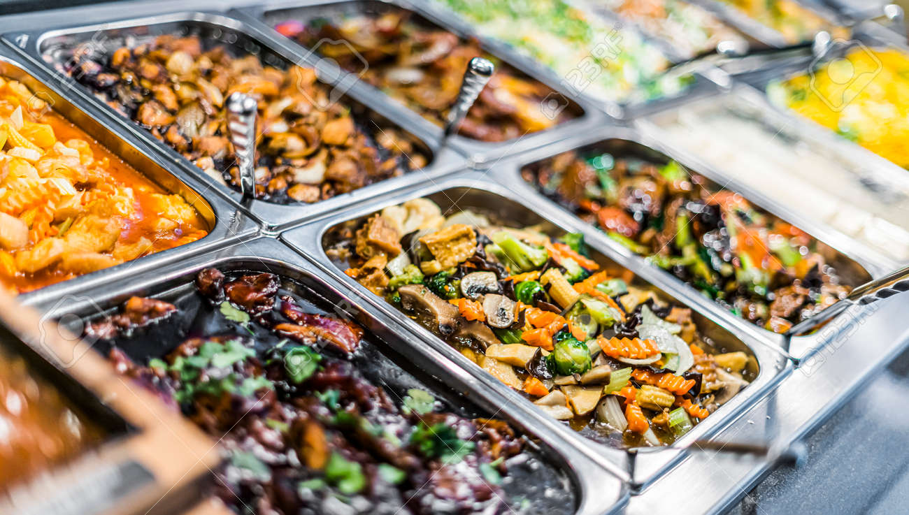 Traditional Asian food sold in an European shopping mall food court - 168773794