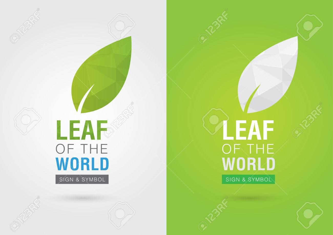 Blatt Der Welt. Eco Freiwilligen-Symbol. Für Grüne Business-Lösungen ...