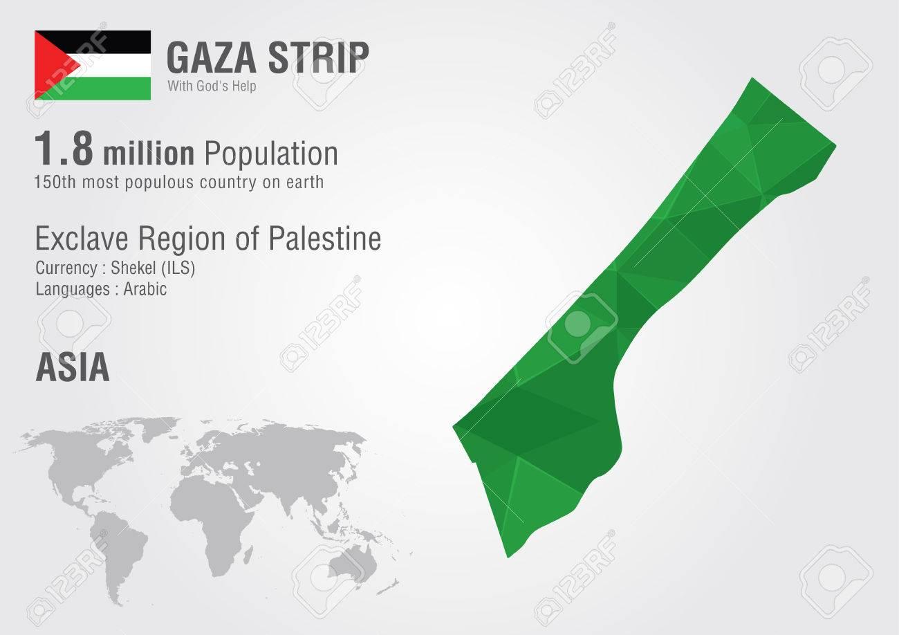 Gaza Strip World Map Woth A Pixel Diamond Texture World Geography ...