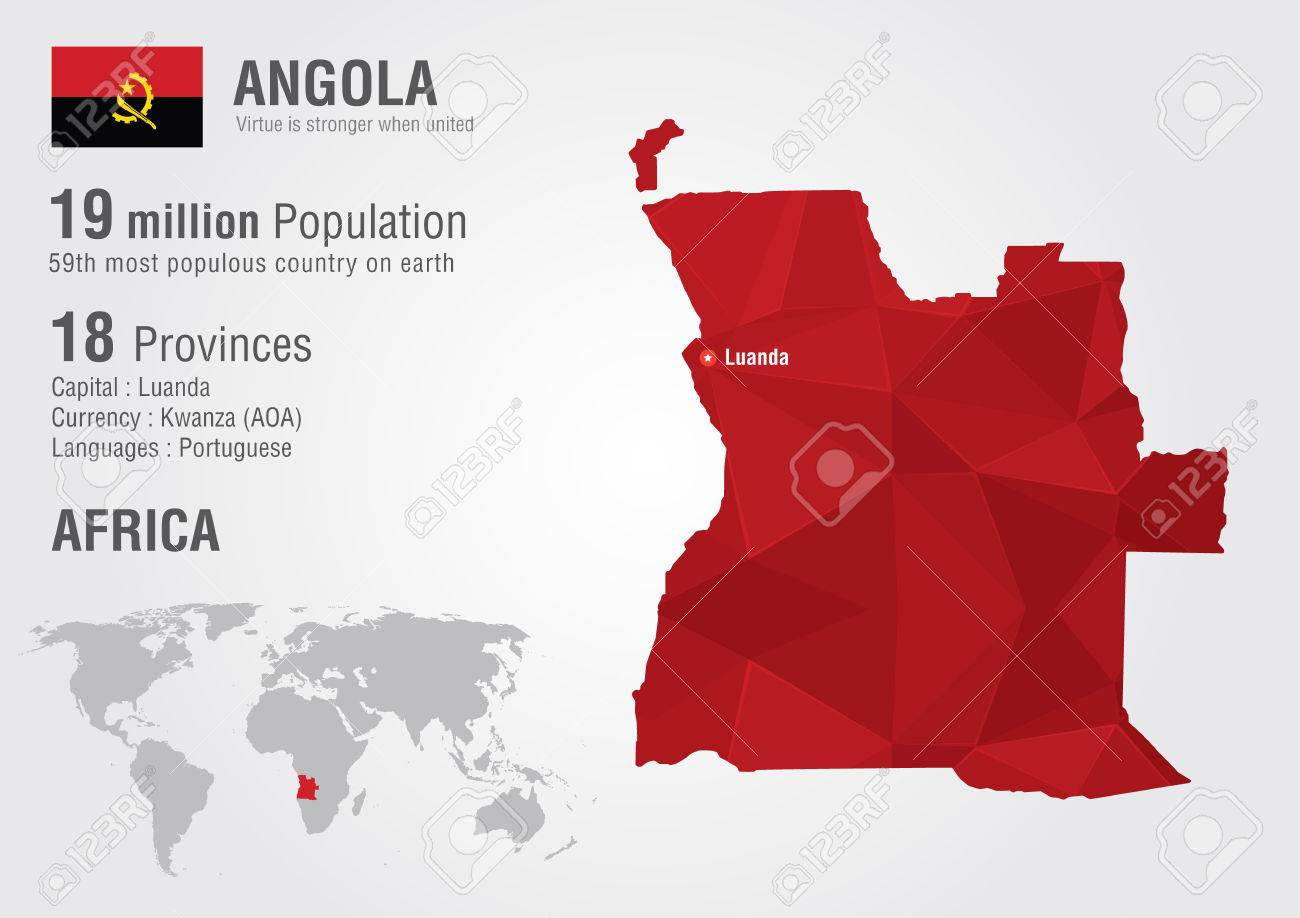 Angola world map with a pixel diamond texture world geography angola world map with a pixel diamond texture world geography stock vector 30673399 gumiabroncs Choice Image