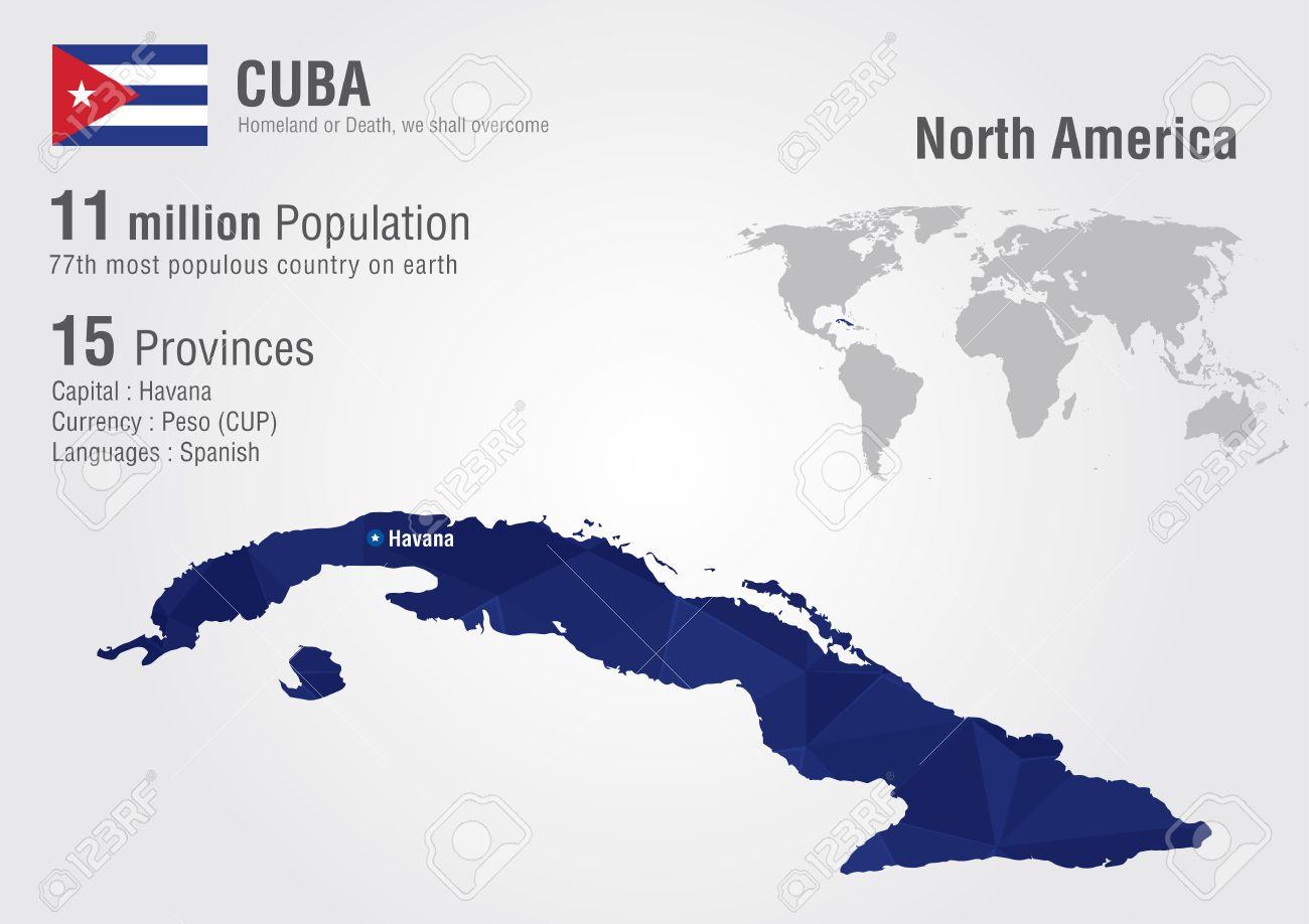 Carte Cuba Monde.La Carte De Cuba Dans Le Monde Avec Un Diamant De Pixel Texture Geographie Mondiale
