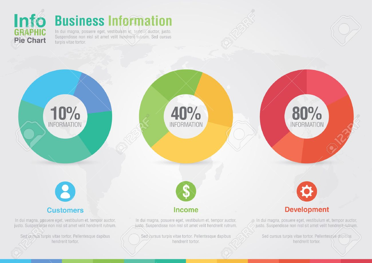 business pie chart infographic business report creative marketing