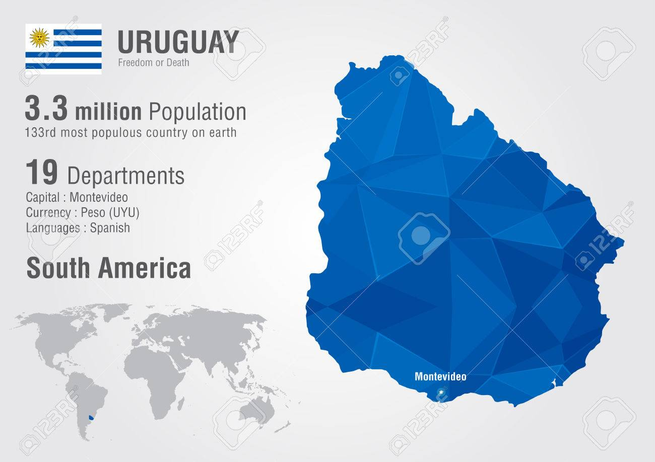 Uruguay world map with a pixel diamond texture world geography uruguay world map with a pixel diamond texture world geography stock vector 31084695 gumiabroncs Images