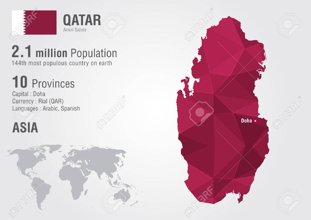 Qatar world map with a pixel diamond texture world geography qatar world map with a pixel diamond texture world geography stock vector 31400315 gumiabroncs Choice Image