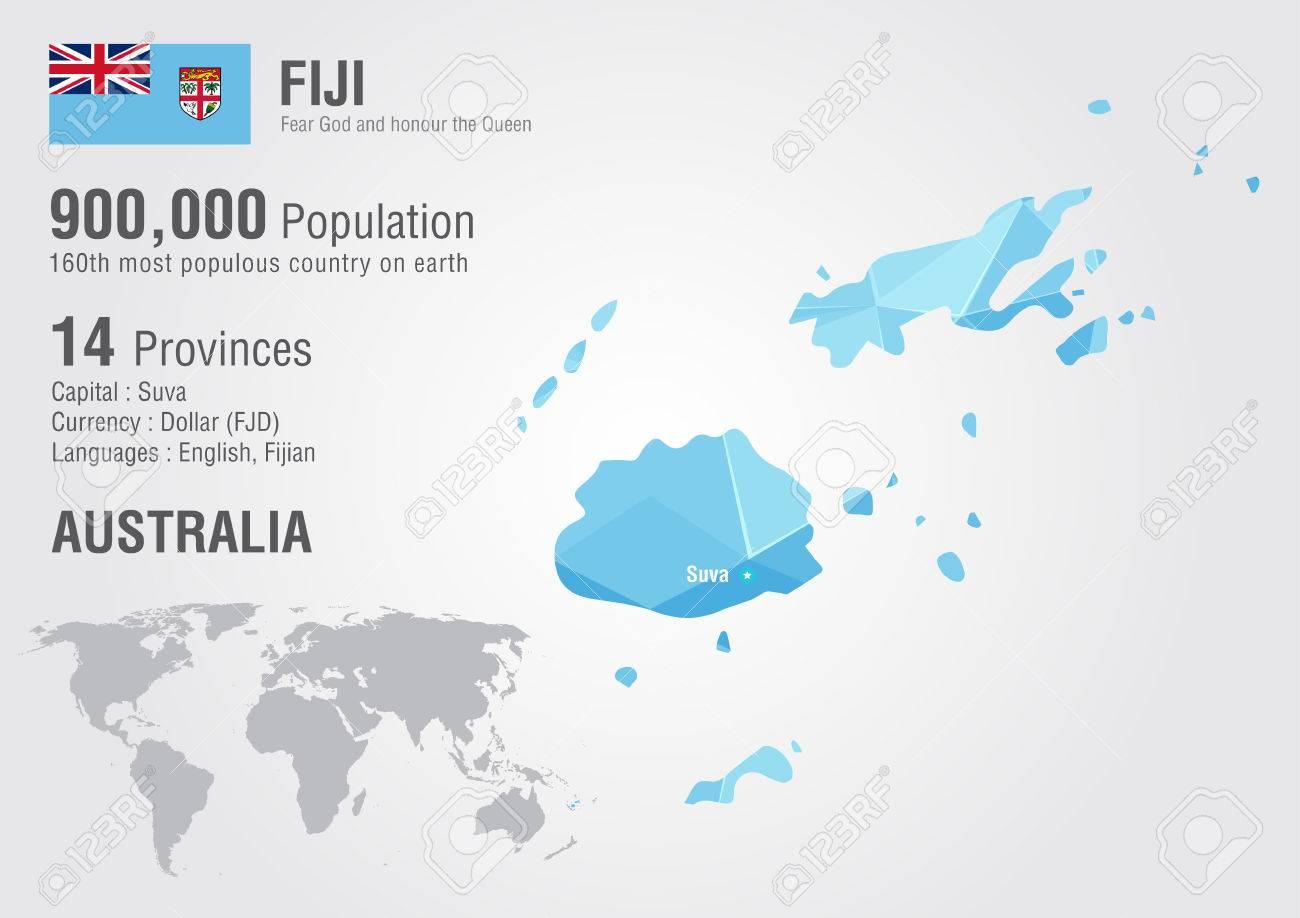 Fiji Mapa Del Mundo Con Una Textura De Diamante Pixel Geografia Mundial
