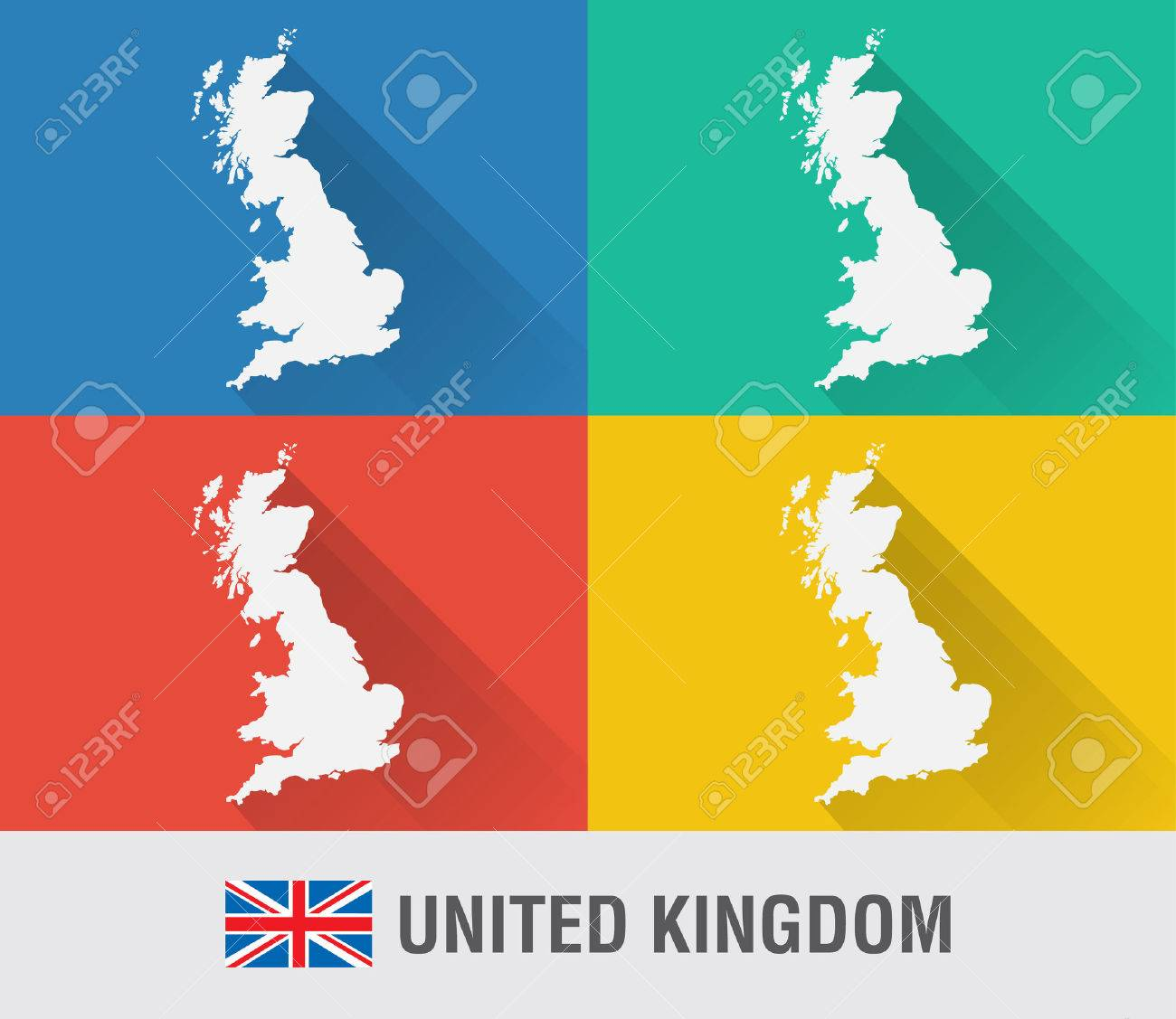 Uk england world map in flat style with 4 colors modern map design uk england world map in flat style with 4 colors modern map design foto gumiabroncs Image collections