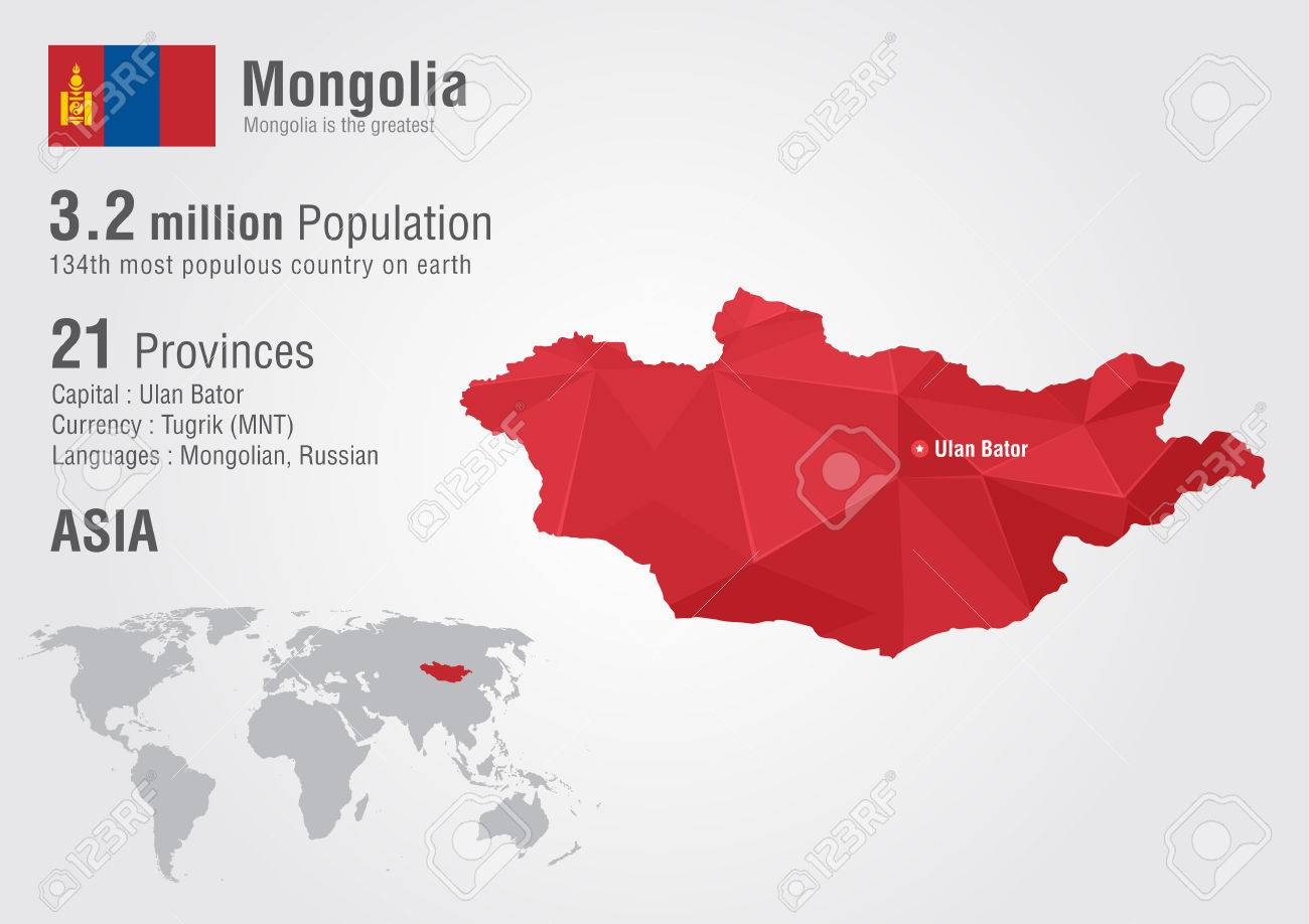 Mongolia world map with a pixel diamond texture creative world mongolia world map with a pixel diamond texture creative world geography stock vector gumiabroncs Gallery