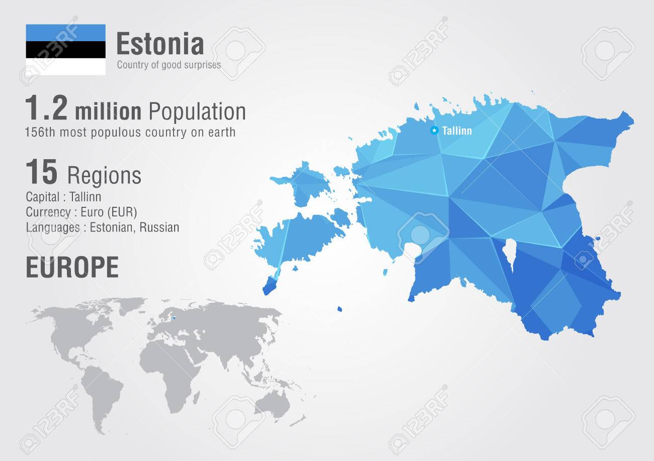 Estonia world map with a pixel diamond texture world geography estonia world map with a pixel diamond texture world geography stock vector 36109051 gumiabroncs Images