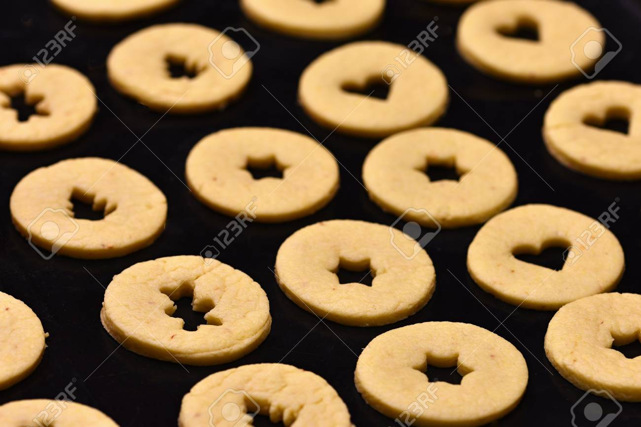 Baking Home Made Christmas Cookies Classical Czech Tradition