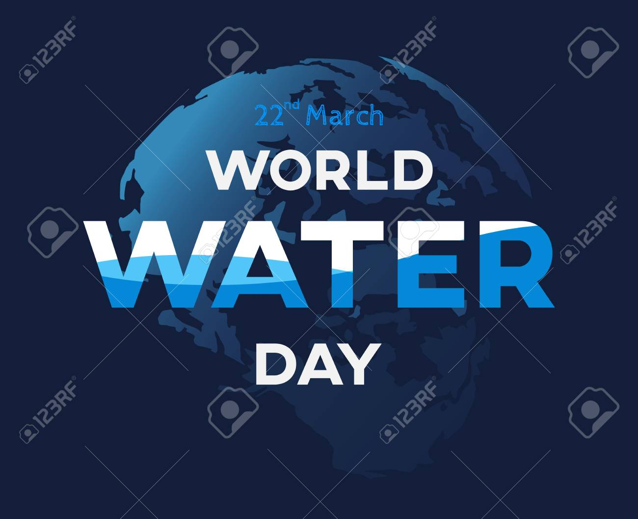 world water day background greeting card or poster for campaign