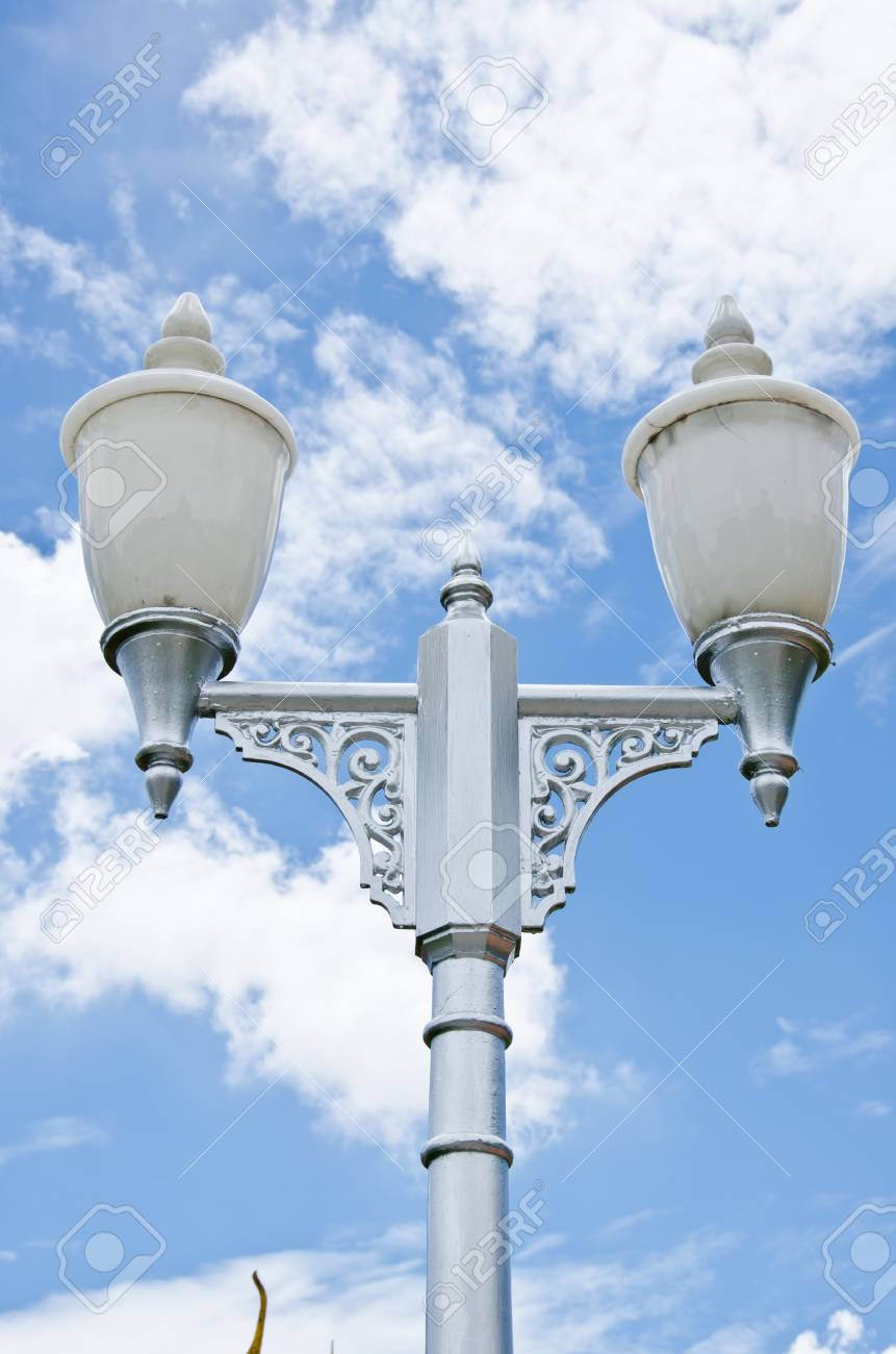 lamp post electricity industry Stock Photo - 19162937