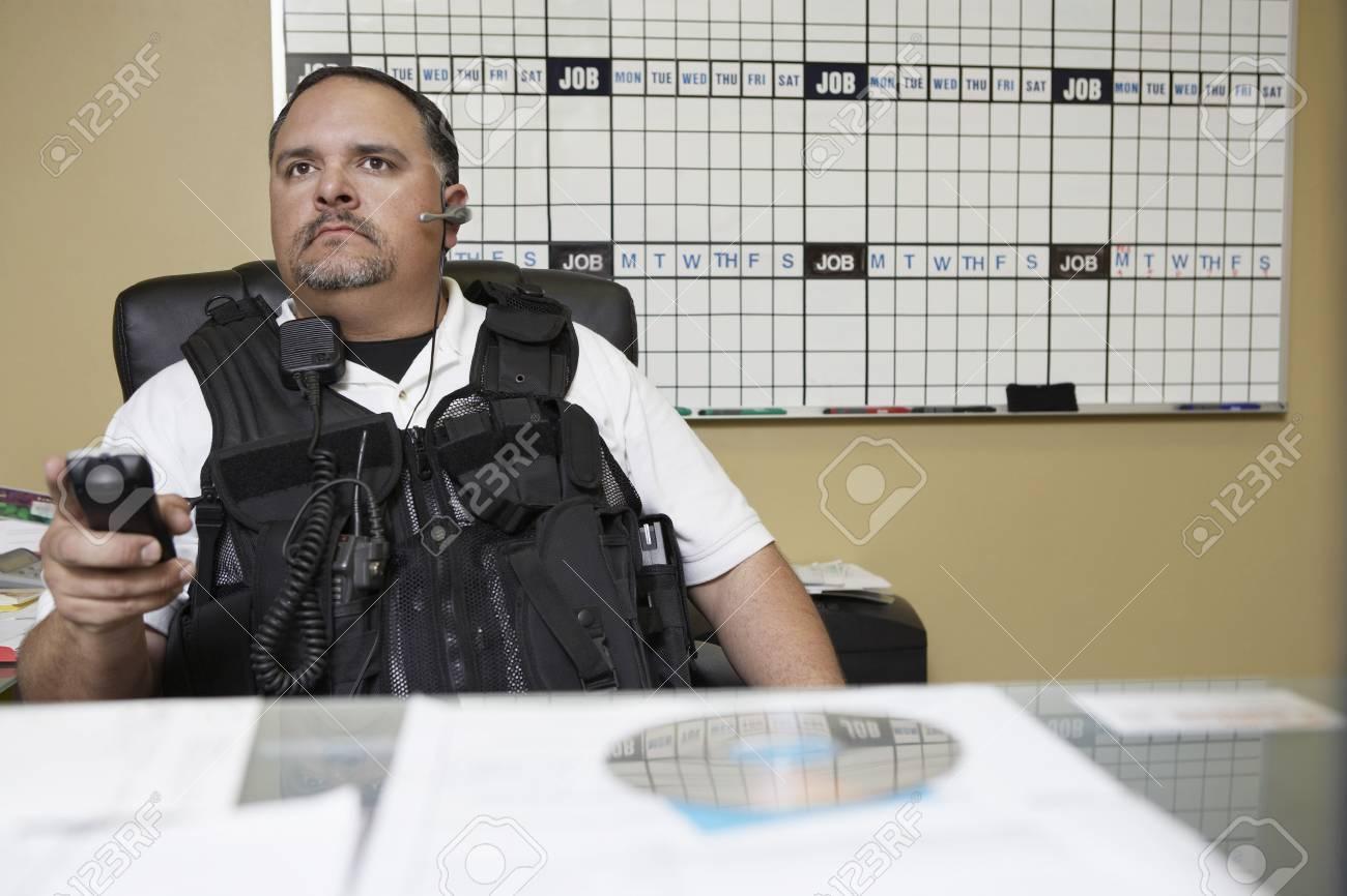 Security guard at work Stock Photo - 3540750