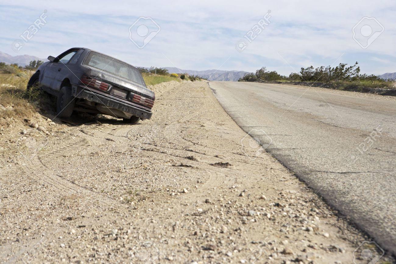Abandoned car on roadside Stock Photo - 3541002