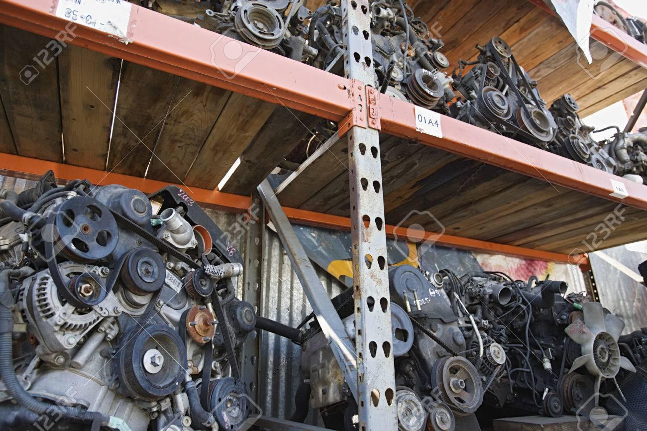 Car engines in junkyard Stock Photo - 3812098