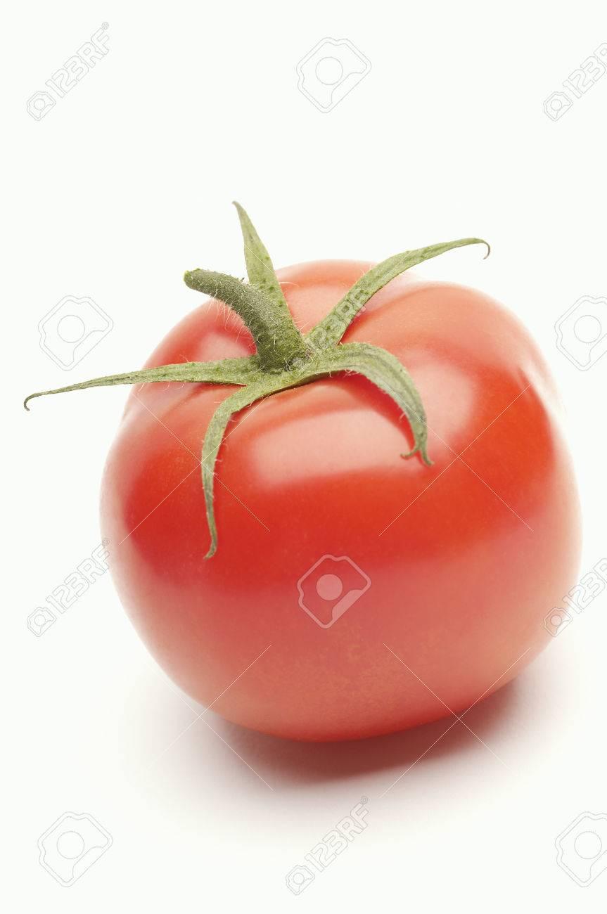 Tomato on white background Stock Photo - 3812736