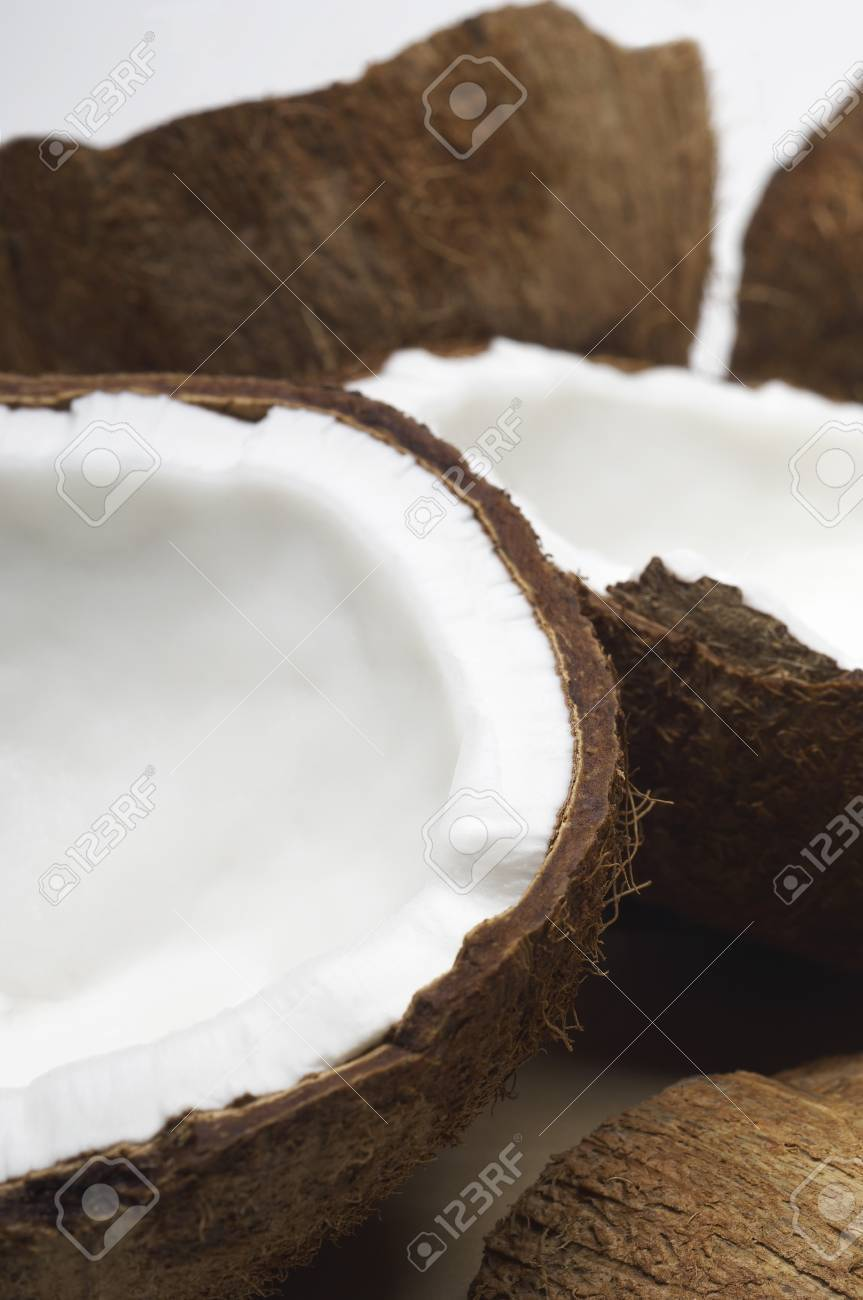 Halved coconuts Stock Photo - 3812913