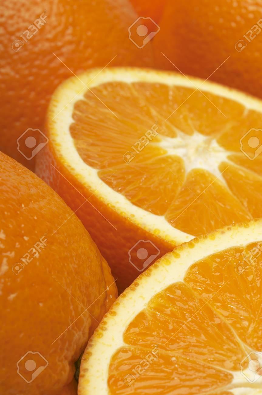 Oranges, close-up Stock Photo - 3813027