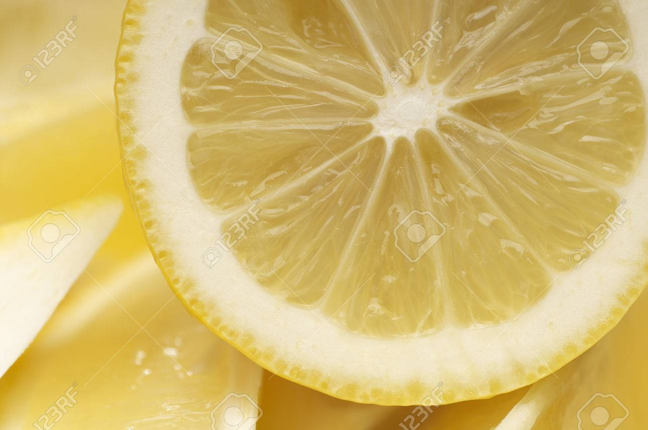 Cross section of lemon Stock Photo - 3813018