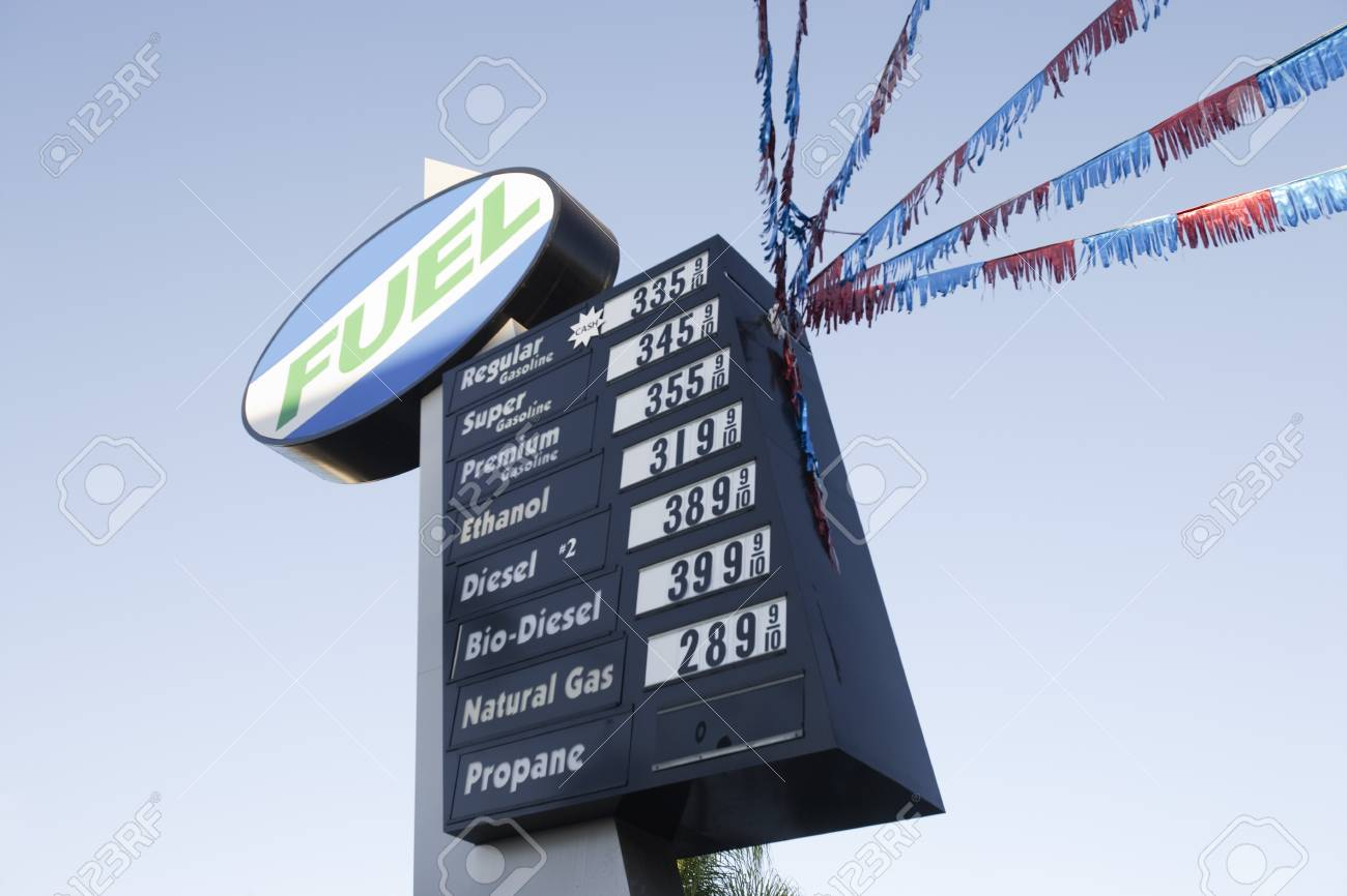 Gas station sign Stock Photo - 4925980