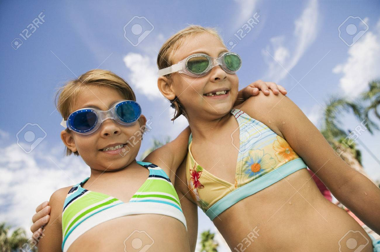 Girls at the Pool Stock Photo - 5404680
