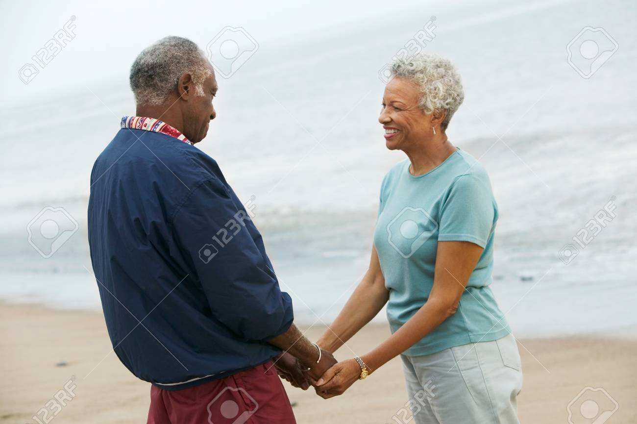 Couple in Love and at Beach Stock Photo - 5412340