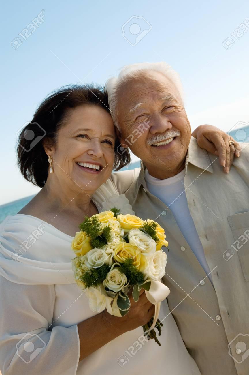 Senior Newlyweds Stock Photo - 5419822